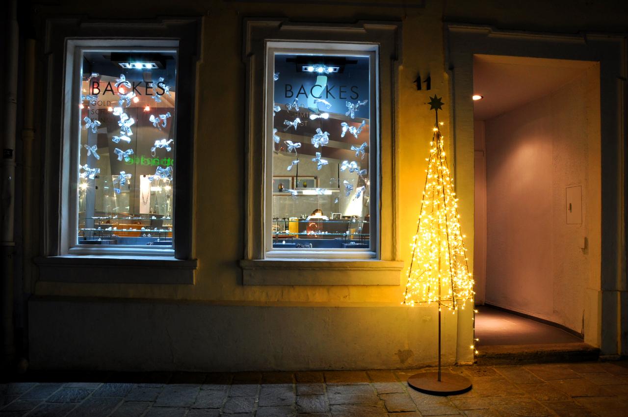 deko weihnachtsbaum aus Stahl